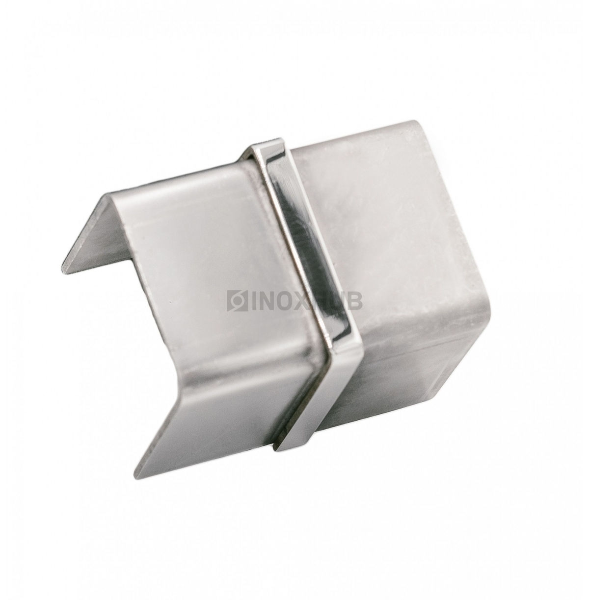 Соединительная муфта для поручня с пазом  40.0х40.0 мм AISI 304 GRIT 600