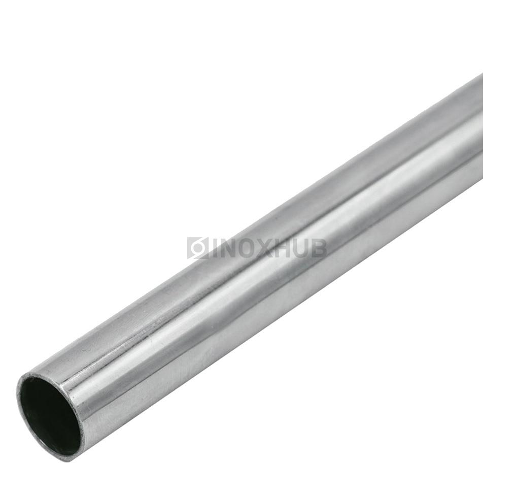 Труба круглая AISI 304  ASTM A554 Ø25.0×1.2×6000 мм GRIT 600